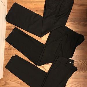 J.Crew/Ann Taylor 3 pairs Black pants SZ 10